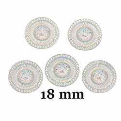 10 cabochons ronds 18 mm...