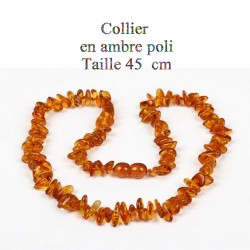 1 collier de 45 cm en ambre...