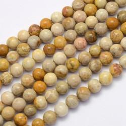 10 perles de 8 mm en jaspe...