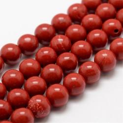 jaspe rouge perles de 8 mm