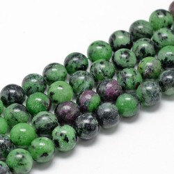 10 perles en Zoïsite, 8 mm