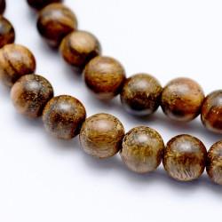 20 perles en bois de Padouk...