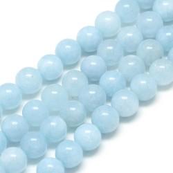 10 perles de 6 mm en aigue...