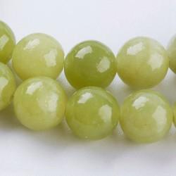 10 perles de 6 mm en péridot