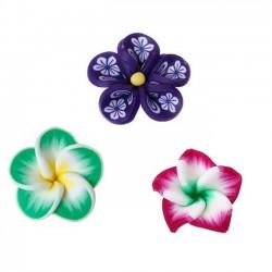 fleurs en pate ploymere