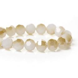perles de verre à facettes
