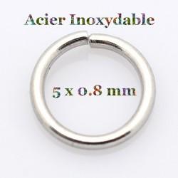 anneaux de 5 mm acier inoxydable