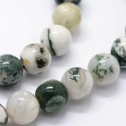10 perles de 8 mm en Agate...