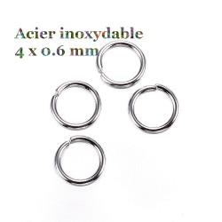anneaux de jonction en acier inoxydable 4 mm