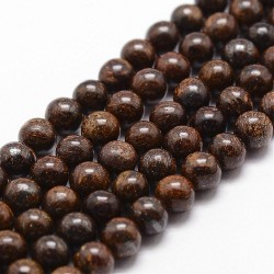 perles en bronzite de 8 mm