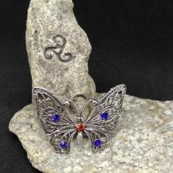 grands pendentifs papillon et strass