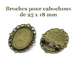 2 broches supports de...
