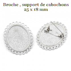 Broche , support de cabochons