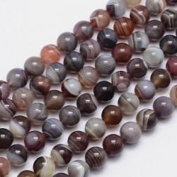 10 perles en Agate de...