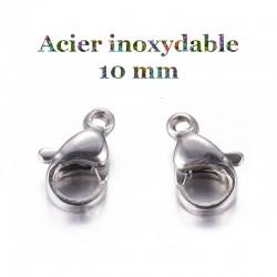 mousqueton acier inoxydable 10 mm