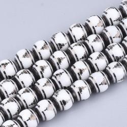 10 perles de verre de 10 mm...
