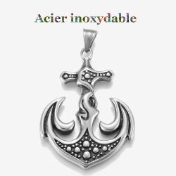 pendentif d'une ancre en acier inoxydable