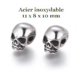 2 perles crane en acier...