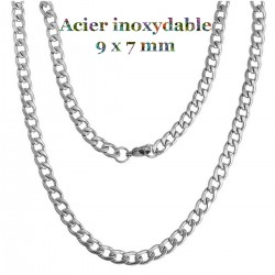 1 collier chaine mailles...