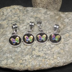 4 perles charms papillon...