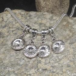 4 perles charms médaillon...