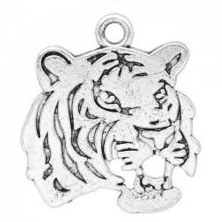2 breloques tête d'un tigre...