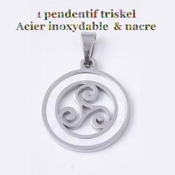 1 pendentif triskel acier...