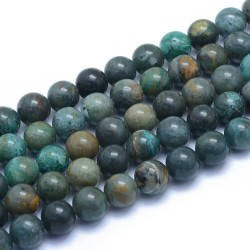 10 perles en Chrysocolle, 8 mm
