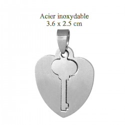 1 pendentif clé du coeur 36...