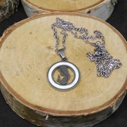 1 pendentif sainte et acier...