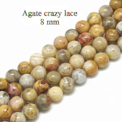 10 perles en Agate crazy...