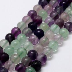 10 perles en fluorite de 8 mm