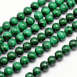 10 perles en malachite...