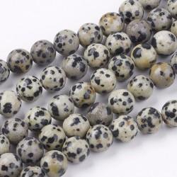 10 perles en jaspe...