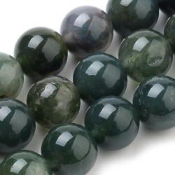 10 perles en Agate mousse 8 mm