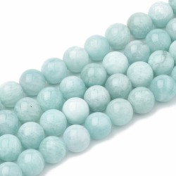 10 perles en Amazonite, 8 mm