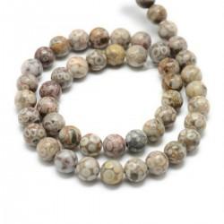 10 perles en Maifanite, 8...