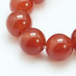 10 perles en Cornaline, 8...
