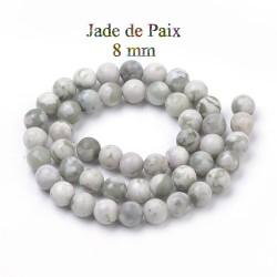 10 perles en Jade de paix,...